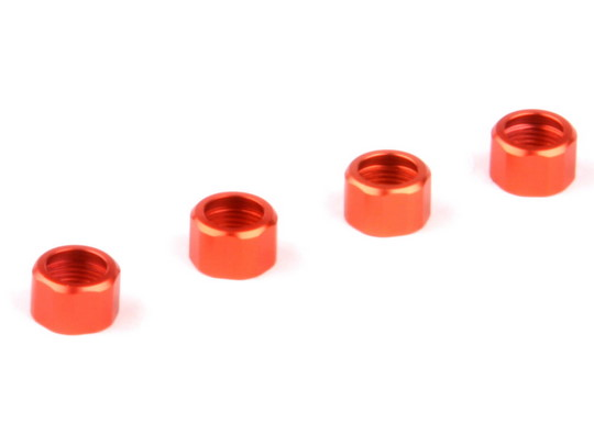 Shock Cap Rings, orange (Dominus)