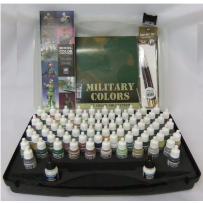 Military Colour case (72)+3 Brushes