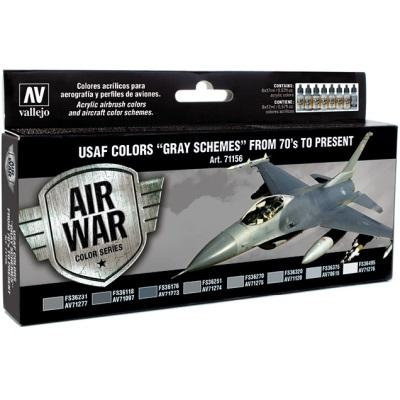 "USAF Colors ""Grey Schemes"" from 70's to present (8) Model Air"