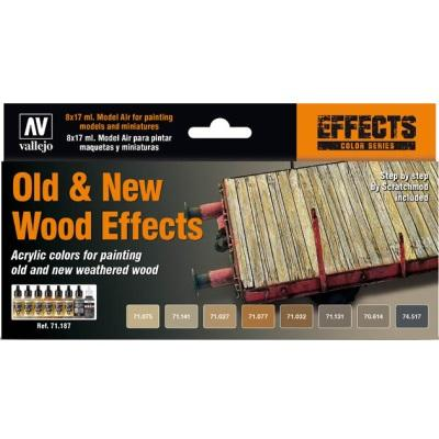 Old/new wood effects Model Air set (8)