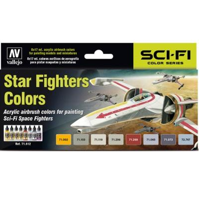 Model Air Star Fighters set (8)