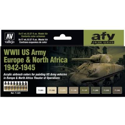 WWII US Army Europe & Nth Africa 1942-75 (8) Model Air