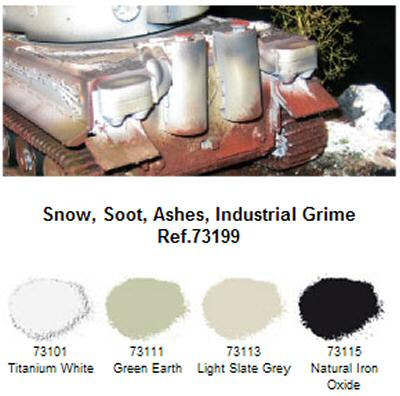 Pigments Set No.4 Snow,Soot,Ashes,Inds