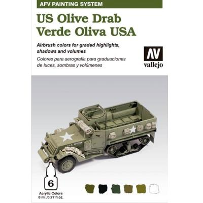 US Army Olive Drab Paint system 6 x 8ml
